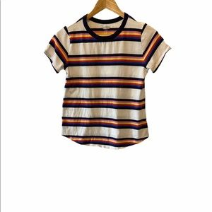OLD NAVY Everywhere Striped Colourful Tee Shirt XS
